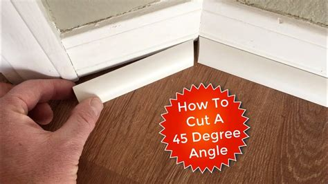 How To Cut Angles On Quarter Round